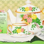 elegant tea party invitation