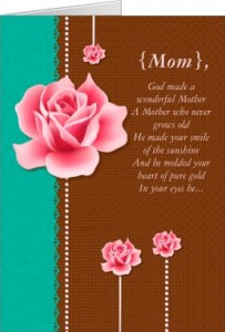 Mother's Day Card Wonderful