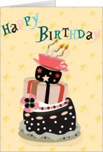 happy birthday cards cake stack