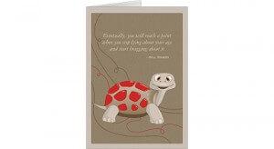 Cute Turtle Happy Birthday Card