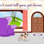 missing you card-recliner & pets