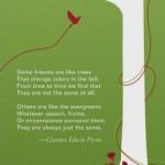 deepest sympathy - tree card