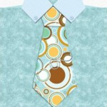 tie on blue marble shirt father's day card