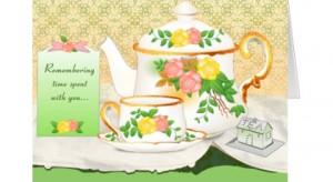 friendship card - teacup & teapot