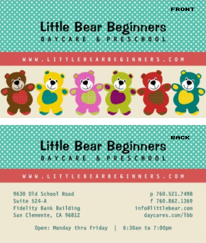 Daycare Business Card Vizons Design