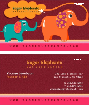Daycare center business card vizons design daycare center business card daycare center business card colourmoves Gallery