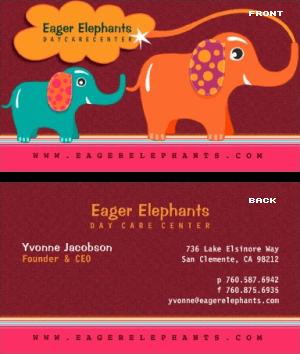 daycare center business card daycare center business card - Daycare Business Cards