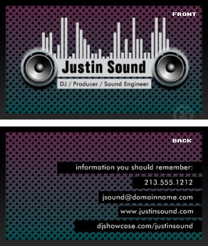 dj business card dj business card - Dj Business Cards