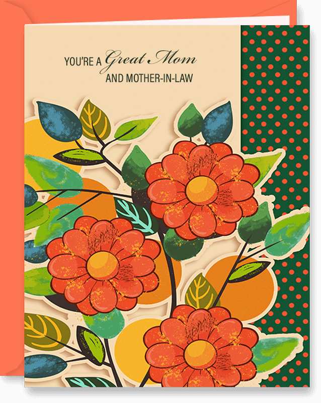 You're A Great Mom and Mother-in-Law Mother's Day Card