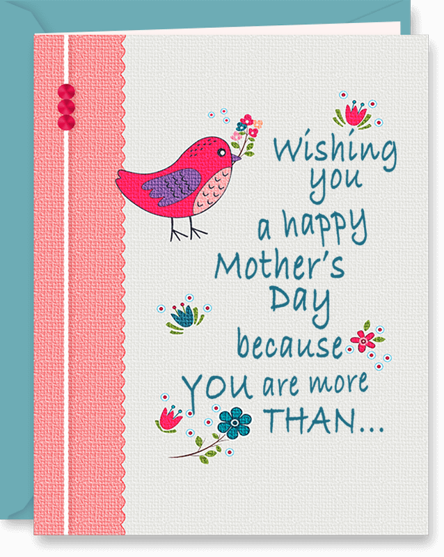 More Than Just A Sister Mother's Day Card