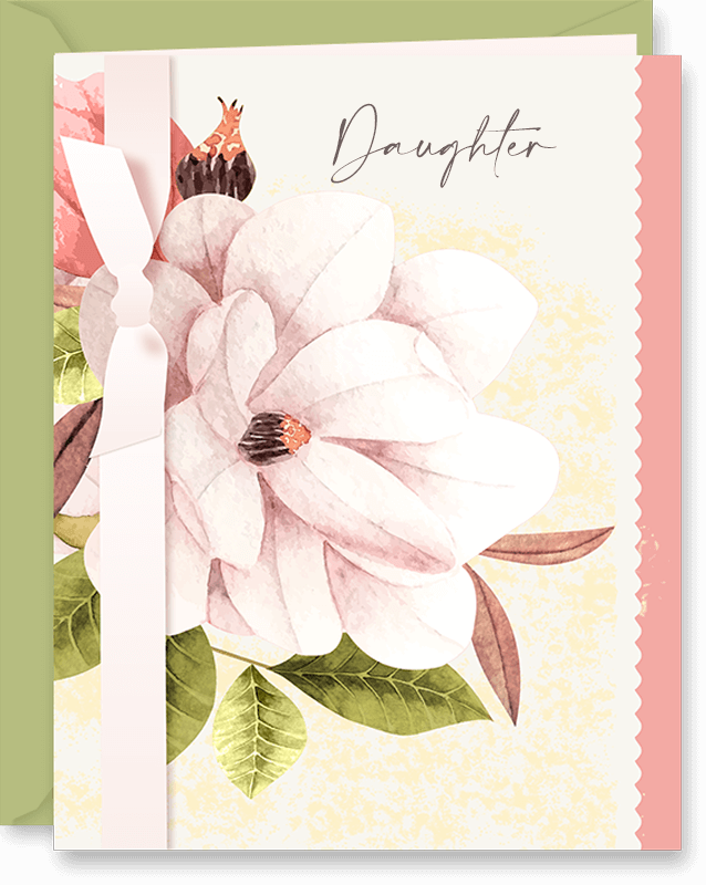 Magnolia Flowers Mother's Day Card For Daughters by Vizons Design
