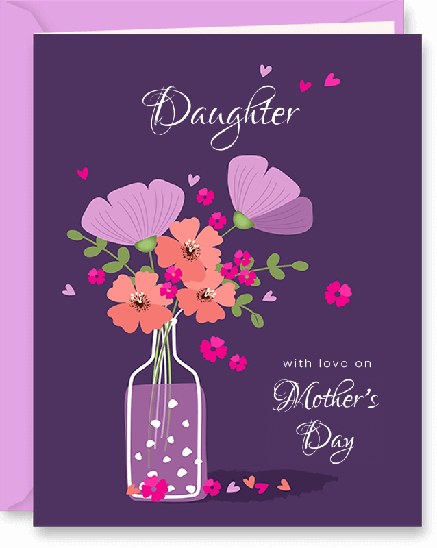 Personalized Mother's Day Card For Daughter
