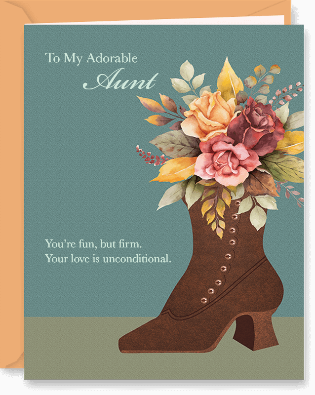 Vintage Boot & Flowers Mother's Day Card by Vizons Design