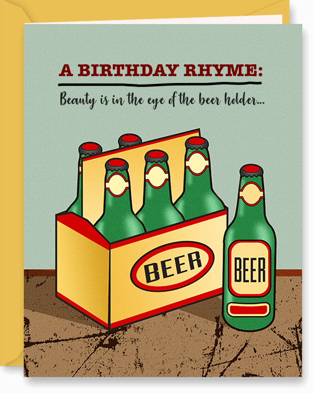Funny Birthday Card (6 Pack of Beer)