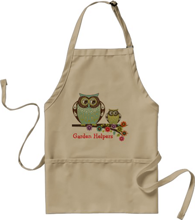 Apron with Owls on Tree Branch