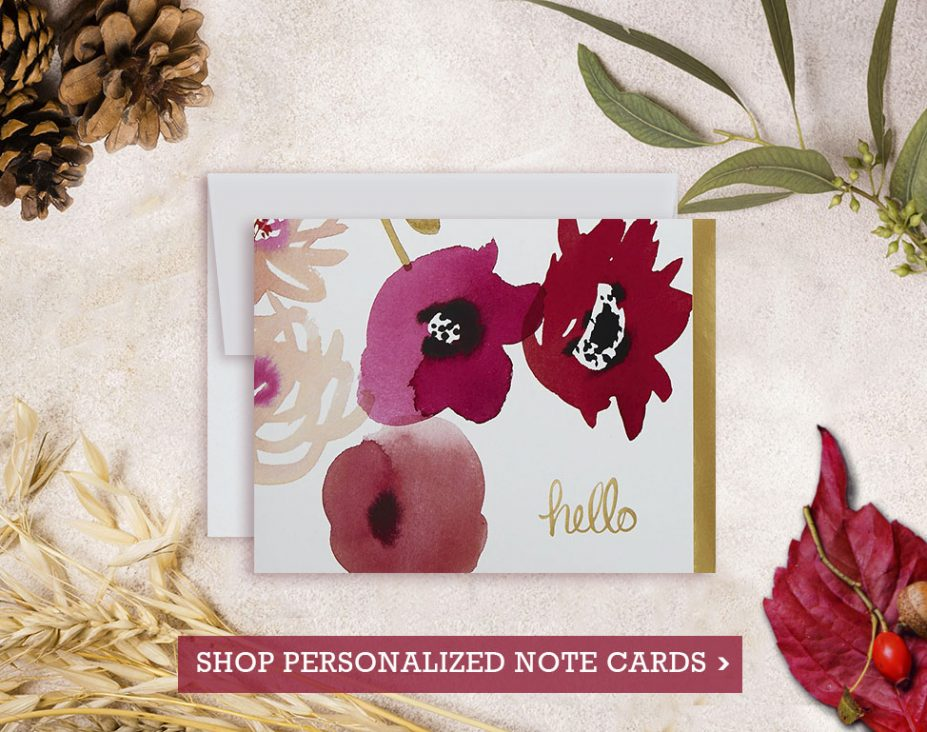 Personalized Gifts - Shop Personalized Note Cards at Vizons Design