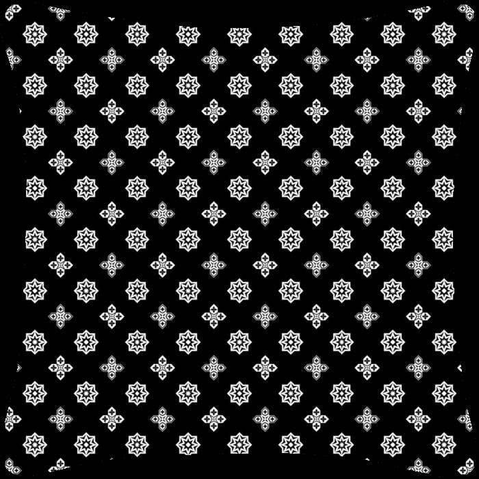Ornamental Black & White Throw Pillow
