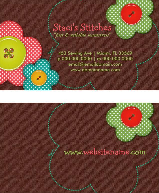 Stitches Seamstress Fashion Business Card