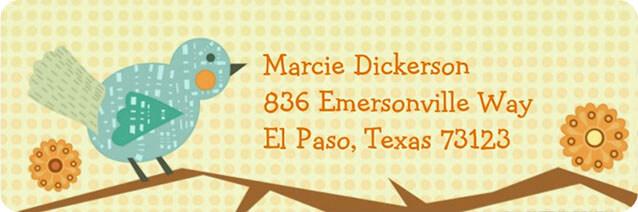 Tweety Bird Personalized Return Address Label