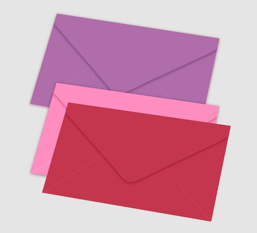 Personalized Stationery Colored Envelopes
