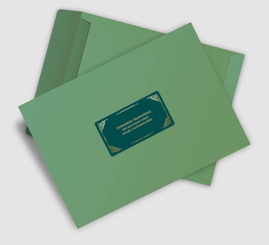 Personalized Stationery Mailing Labels