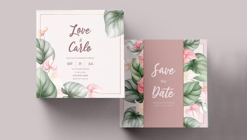 Wedding Invitations Color Schemes