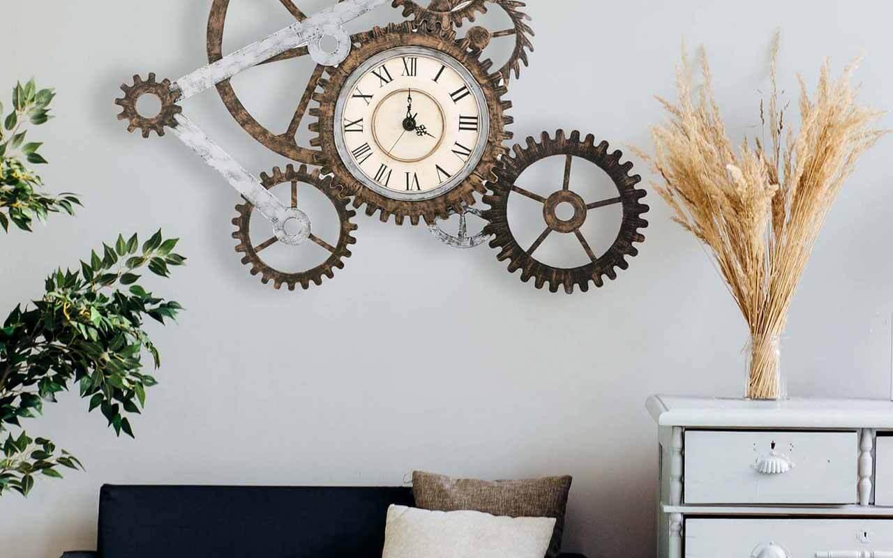 Office Wall Art Ideas Gears Wall Clock