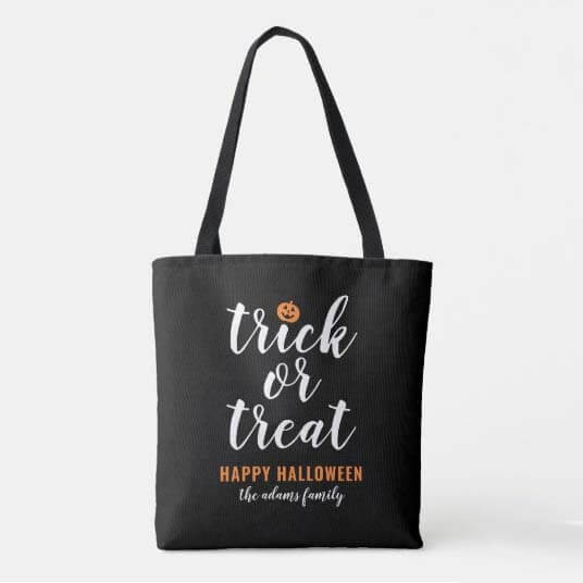 Use Trick or Treat Bags During COVID
