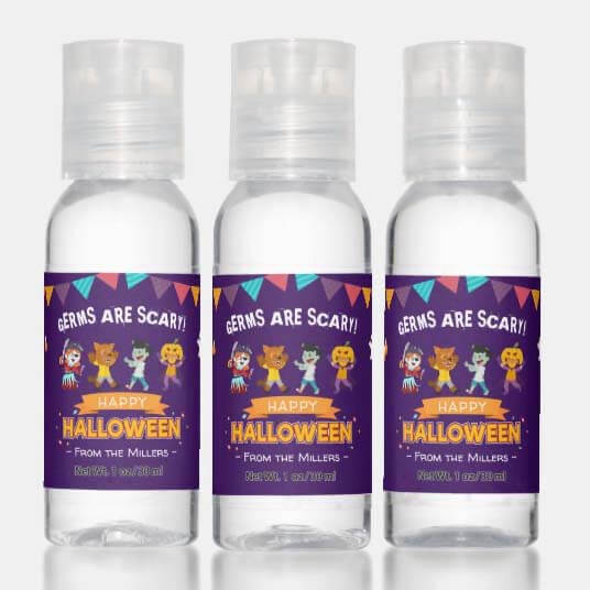 Trick or Treat During COVID with Hand Sanitizer